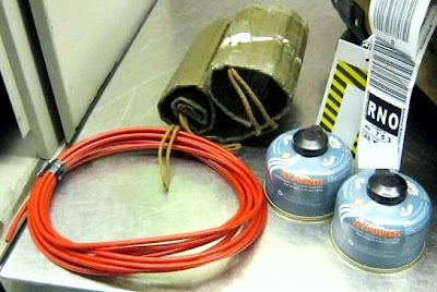 Improvised Explosive Device Training Aids Discovered at Two Airports – These weren't tests on TSA, these were non-TSA instructors who thought it was OK to place these items in their checked baggage.