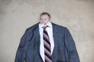 funny picture: child in suit