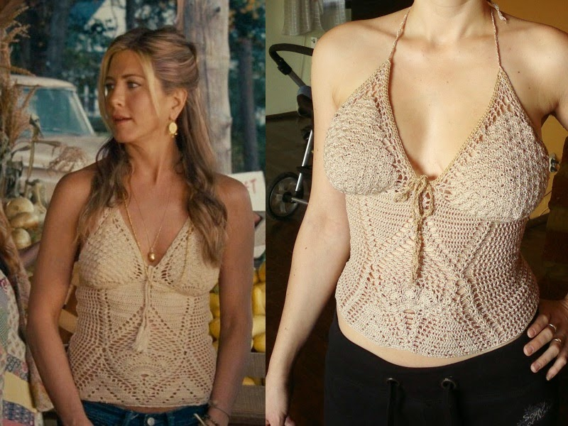 Crochet top as seen on jennifer aniston