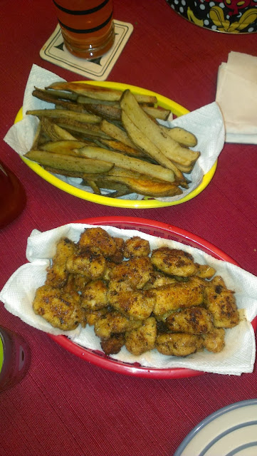 homemade chicken nuggets and hand-cut fries,