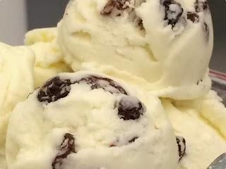 #receita de #sorvete #assado de #passas ao #rum