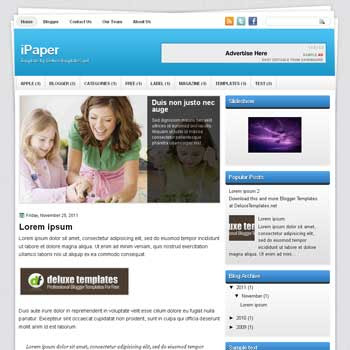 iPaper blogger template. template blogspot magazine style. download template tech blogger template