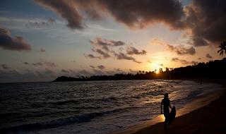 Unawatuna Beach Sun Set Sri Lanka