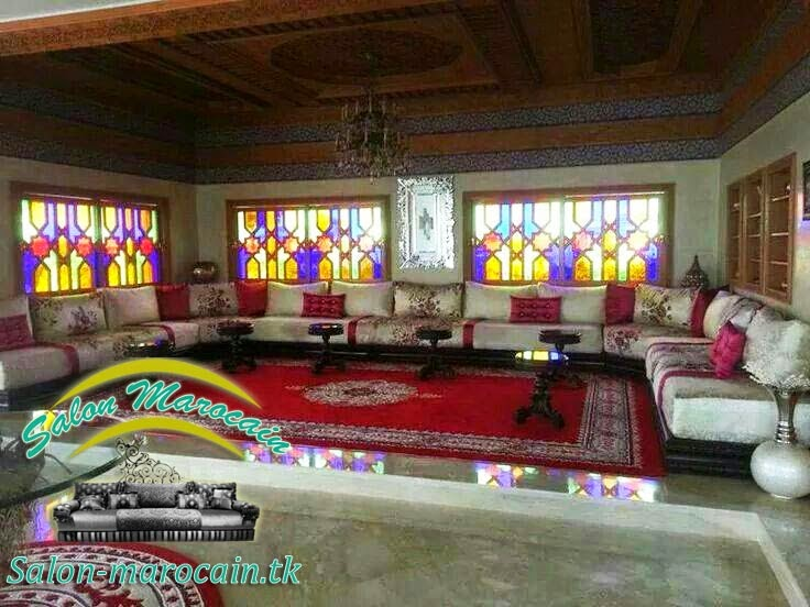 Salon marocain moderne 2014 — Salon marocain sur mesure très séduisant