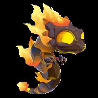 Dragon fuego en llamas