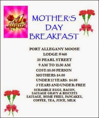 5-10 Mother's Day Breakfast Port Moose