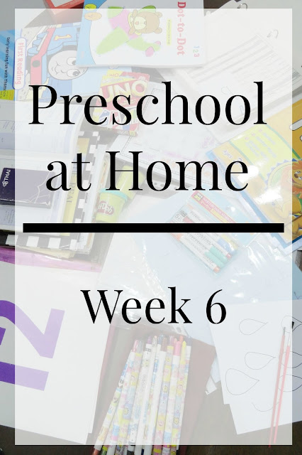 Homeschool Preschool Weekly Schedule
