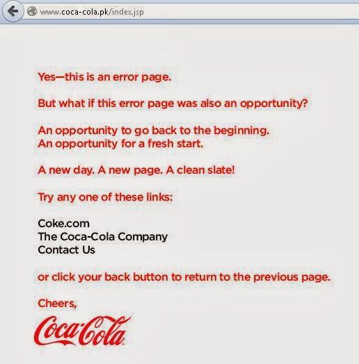 Coca-Cola - 404 Page