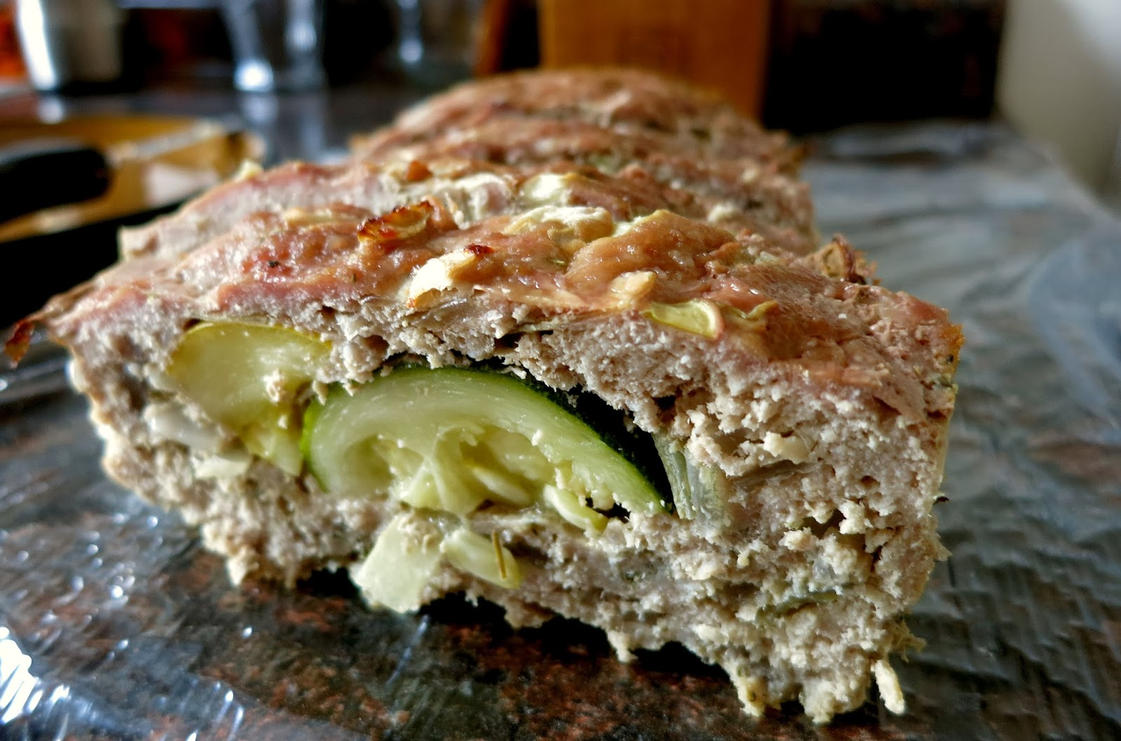 Zucchini Stuffed Meatloaf
