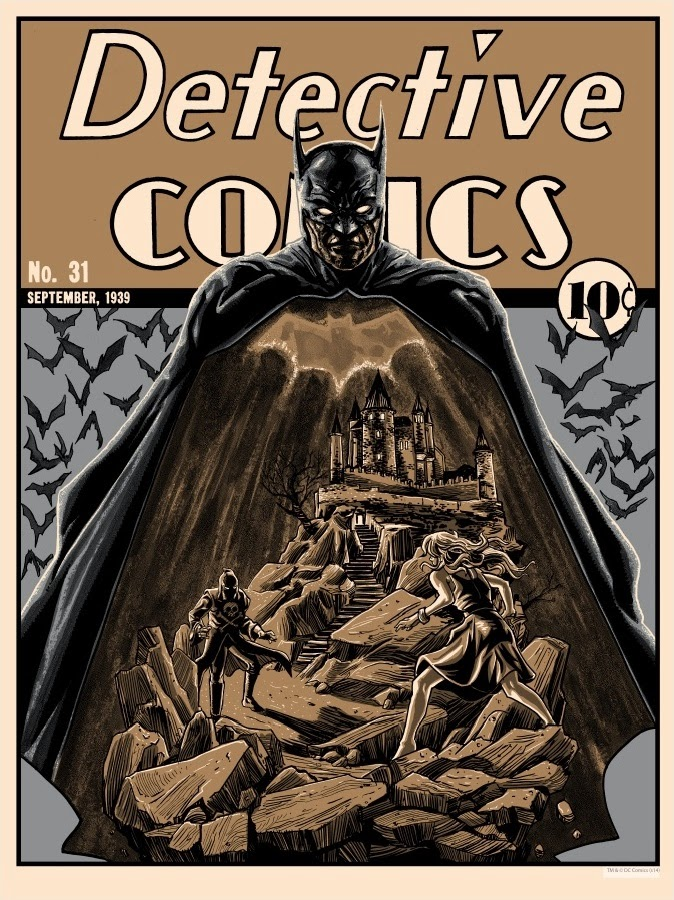 "Batman 75th Anniversary Screen Print Series - Metallic Variant ""Detective Comics 31"" by Tim Doyle"