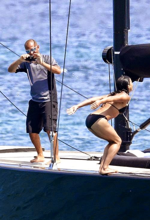 Michelle Rodriguez showed off the figure that's made her famous while unwinding in Sardinia, Italy on Thursday, June 26, 2014.