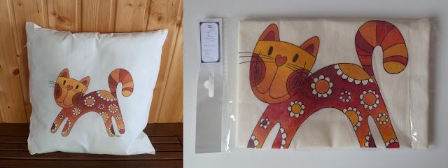 polštářek s kočičkou - běžící
