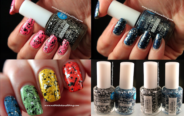 Seventeen Graffiti Effects - Monochrome & Bluetone - Swatches