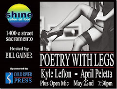 POETRY WITH LEGS at Shine Wed. (5/22)