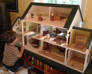 Dollhouses And Boys Bird And A Tree