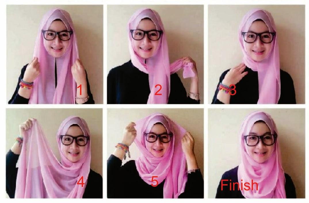 Tutorial Model Hijab 3 Pashmina