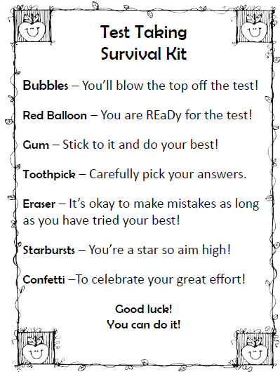Debbie's Dabblings: State Assessments Survival Kit for Kids