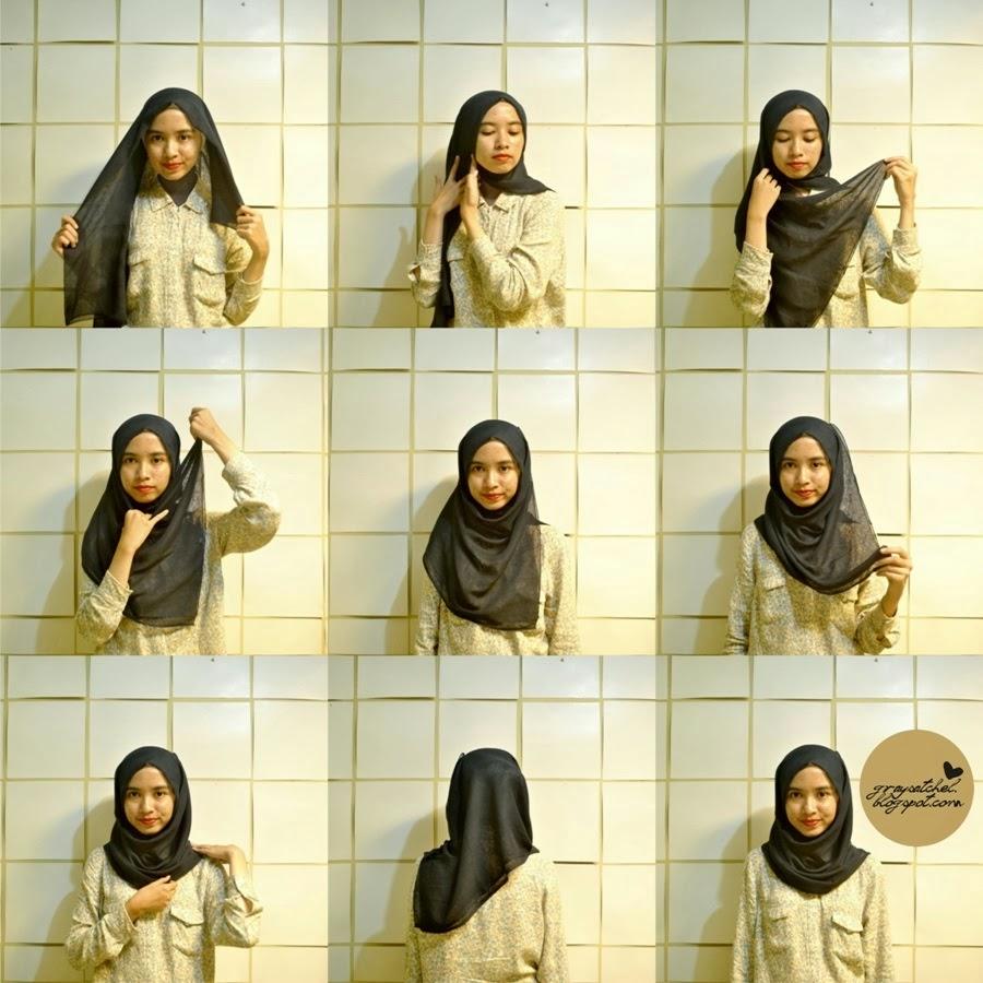 10 Cara Memakai Hijab Terbaru Simple Modern Mudah