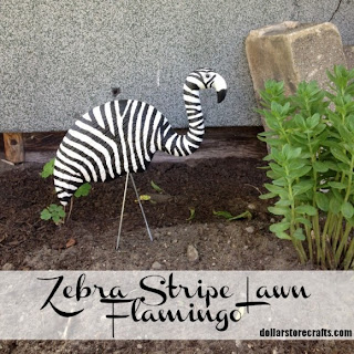 Tutorial: Zebra Stripe Lawn Flamingo