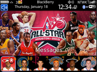 Theme Name : Blackberry Bold 9700 Free NBA All-Star 2013 Theme