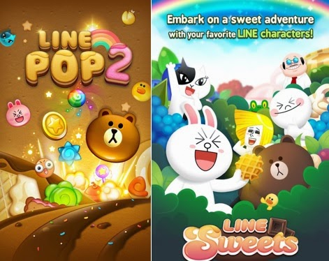 LINE POP 2 and LINE Sweets
