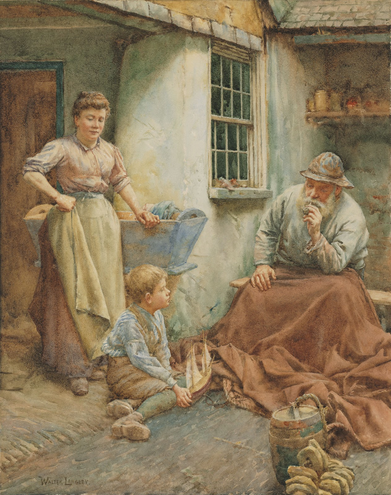 Walter Langley The fishermans tales