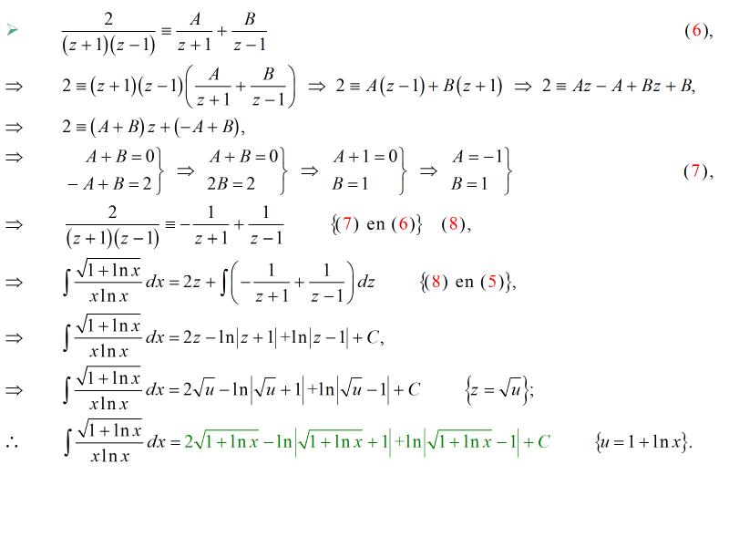 Cálculo21: Antiderivada: sustitución, sustitución z, fracciones ...