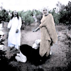 Upasni Maharaj with Meher Baba