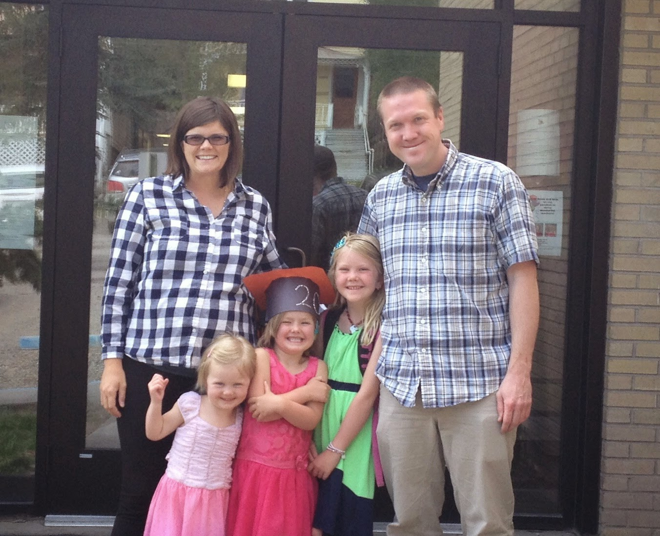 Family Pic outside Ouray School. We'll miss this happy place!
