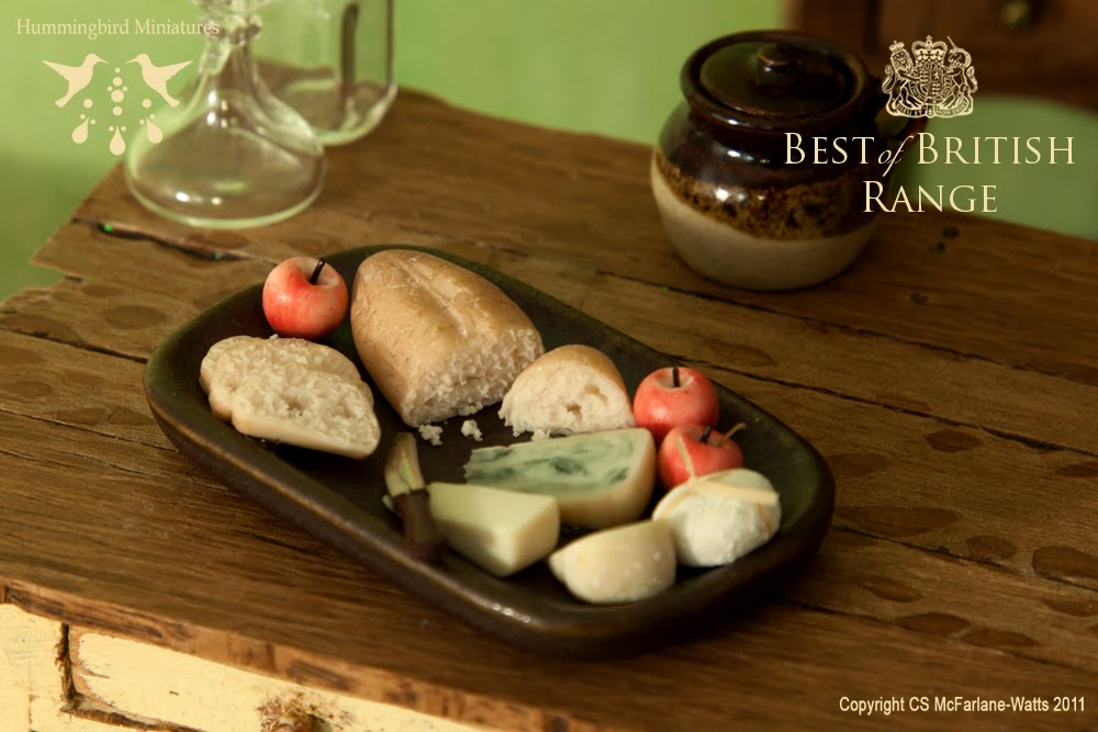 hummingbird miniatures english cheese plate for the