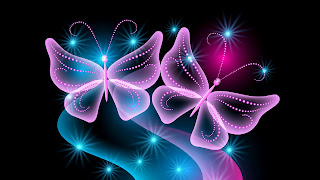 Neon lines butterflies HD Abstract Wallpapers