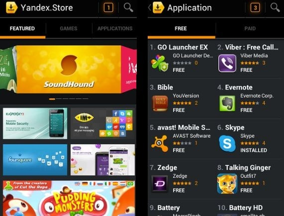 yandex app store best similar app store to google playstore for android smartphone
