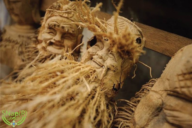 Amazing Bamboo Root Carved Figurines
