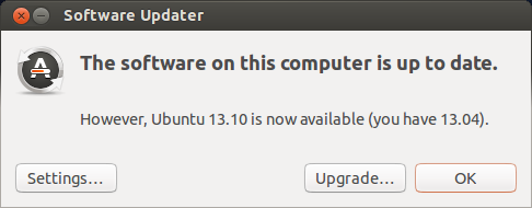 Ubuntu 13.10 is now available (you have 13.04).