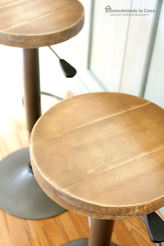 how to add a wooden seat to a bar stool