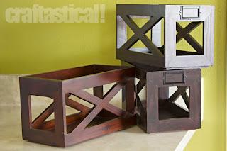 wooden mail holders, garage sale find