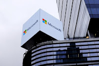 An advertisement for Microsoft is seen over 42nd Street in Manhattan, New York, July 15, 2015. (Credit: Reuters/Rickey Rogers) Click to Enlarge.