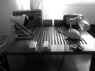 Método de gravação com os rádios e luzes