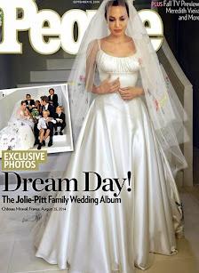 Se develó el misterio. El verdadero vestido de boda de Angelina Jolie by Donatella Versace.
