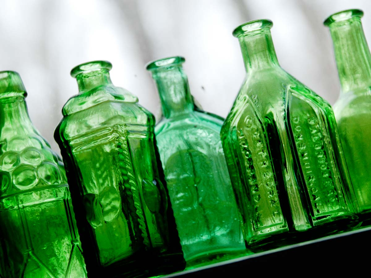 Green Wheaton Bitter bottles