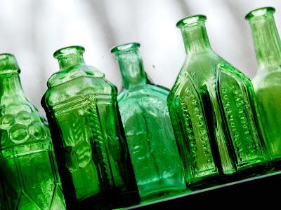 Garrafas verdes Wheaton Bitter