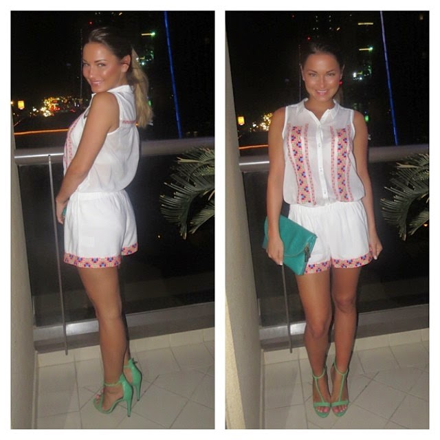 Sam Faiers shares a few images into her Instagram account during her vacation on Monday, April 14, 2014 in Dubai