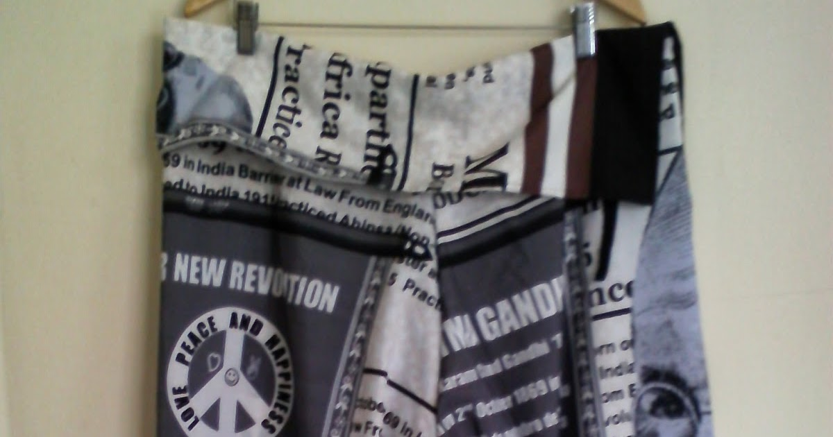 Oficina ArteSã: Calça Saruel estampa Jornal - Mahatma Gandhi