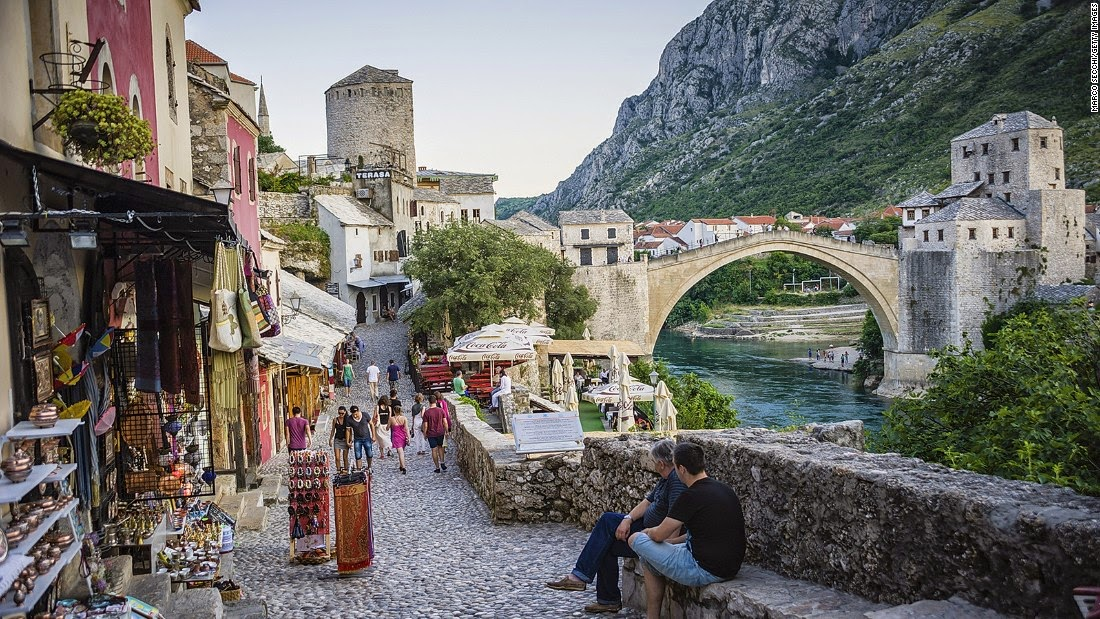 However, this medieval city has bounced back to its prewar glory thanks to $15 million in UNESCO and World Bank funding and more than a decade of meticulous restoration.  Mostar's revived Old Bridge Area (Stari Most) epitomizes the city's kaleidoscope of cultures and ideas with its pre-Ottoman, Eastern Ottoman, Mediterranean and Western European architectural features.