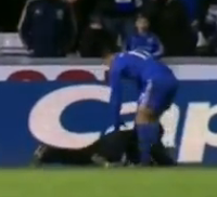 Eden Hazard kicks at ball boy