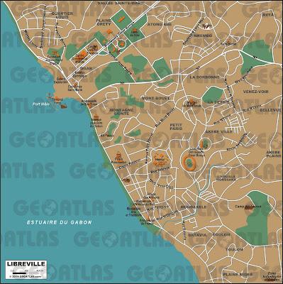 Mapa de Librevile – Gabão