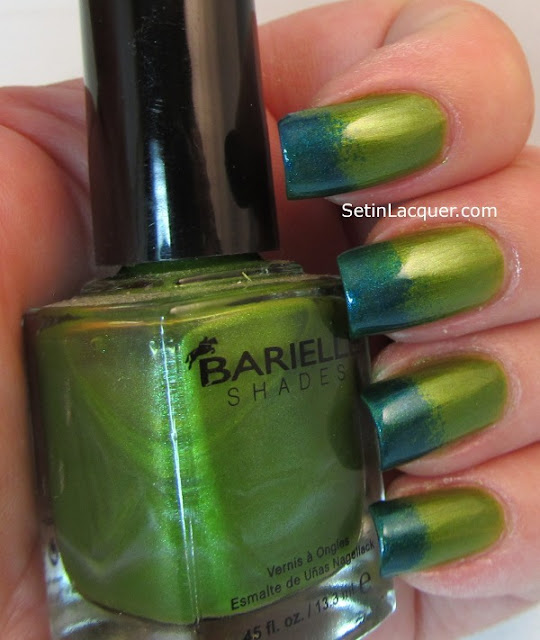 Sponged gradient with Barielle Polished Princess and Sky's the Limit