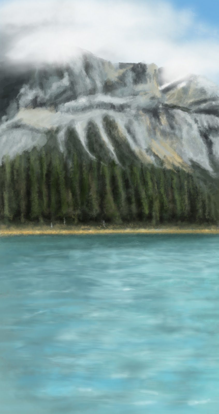 Canada landscape Photoshop study 4