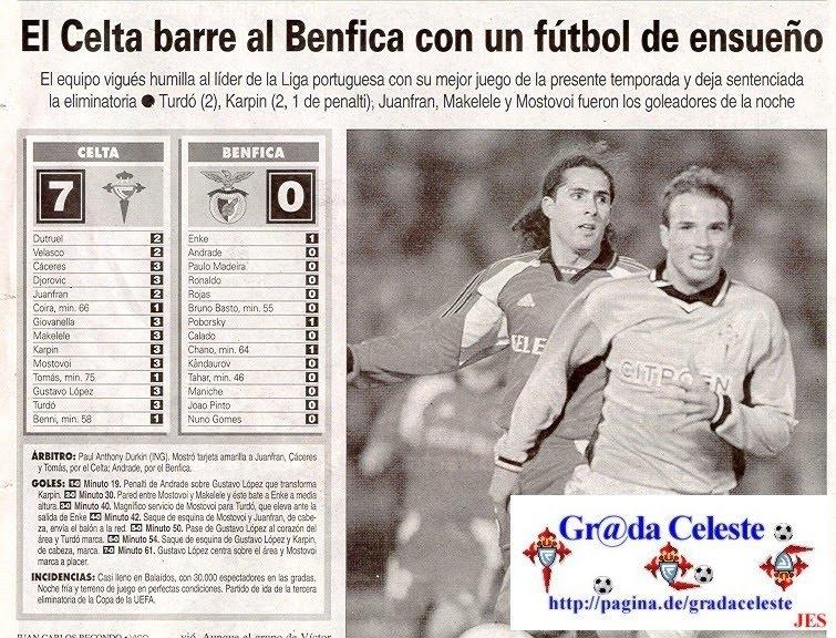 ConversasRedondas: Recordar: Celta de Vigo 7-0 Benfica