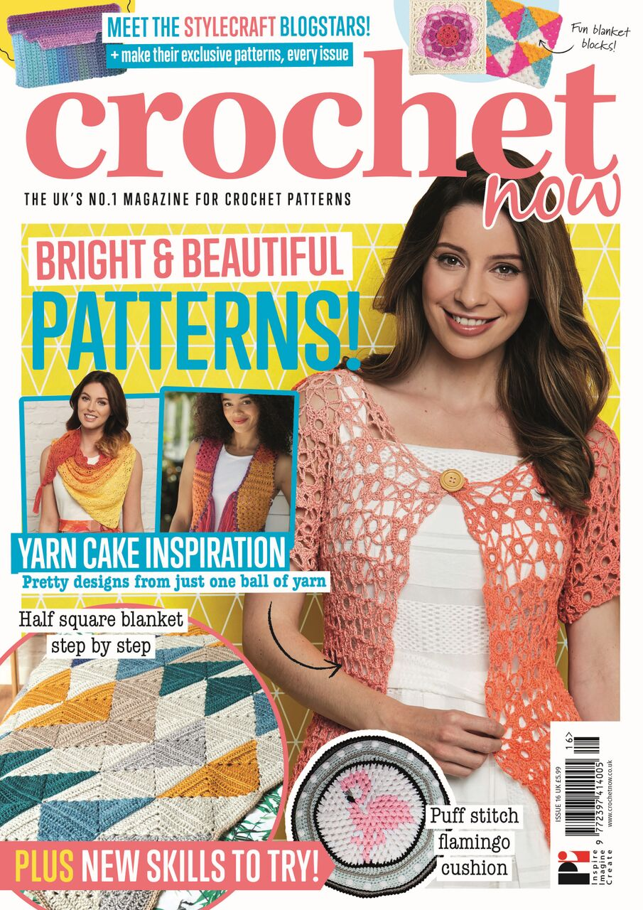 FREE SPIRIT WAISTCOAT PATTERN IN CROCHET NOW ISSUE 16 - OUT NOW